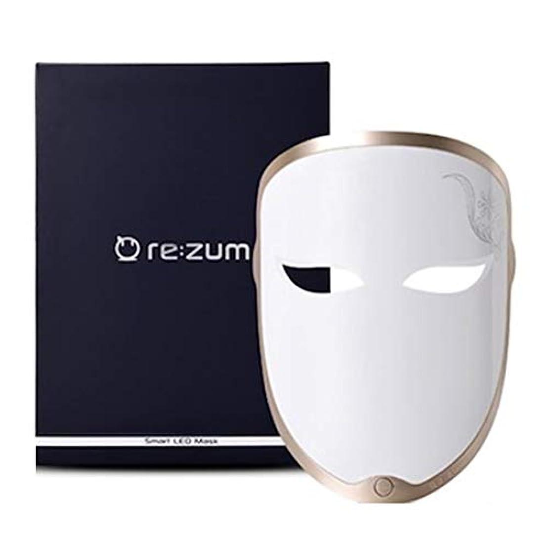 正確さペインティングプラカードREZUM LEDスマートレインボーマスクセルフスキンケア5波長モードホームケア美容機器 USB充電 LED Smart Rainbow Led Mask Self Skin Care 5 Wave Length Mode...