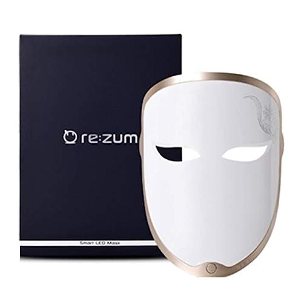 とげのある縮れたうんざりREZUM LEDスマートレインボーマスクセルフスキンケア5波長モードホームケア美容機器 USB充電 LED Smart Rainbow Led Mask Self Skin Care 5 Wave Length Mode...