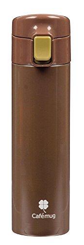 カフェマグファイン ワンタッチマグ 350 ブラウン 内面ふっ素加工 HB-876(1本入)