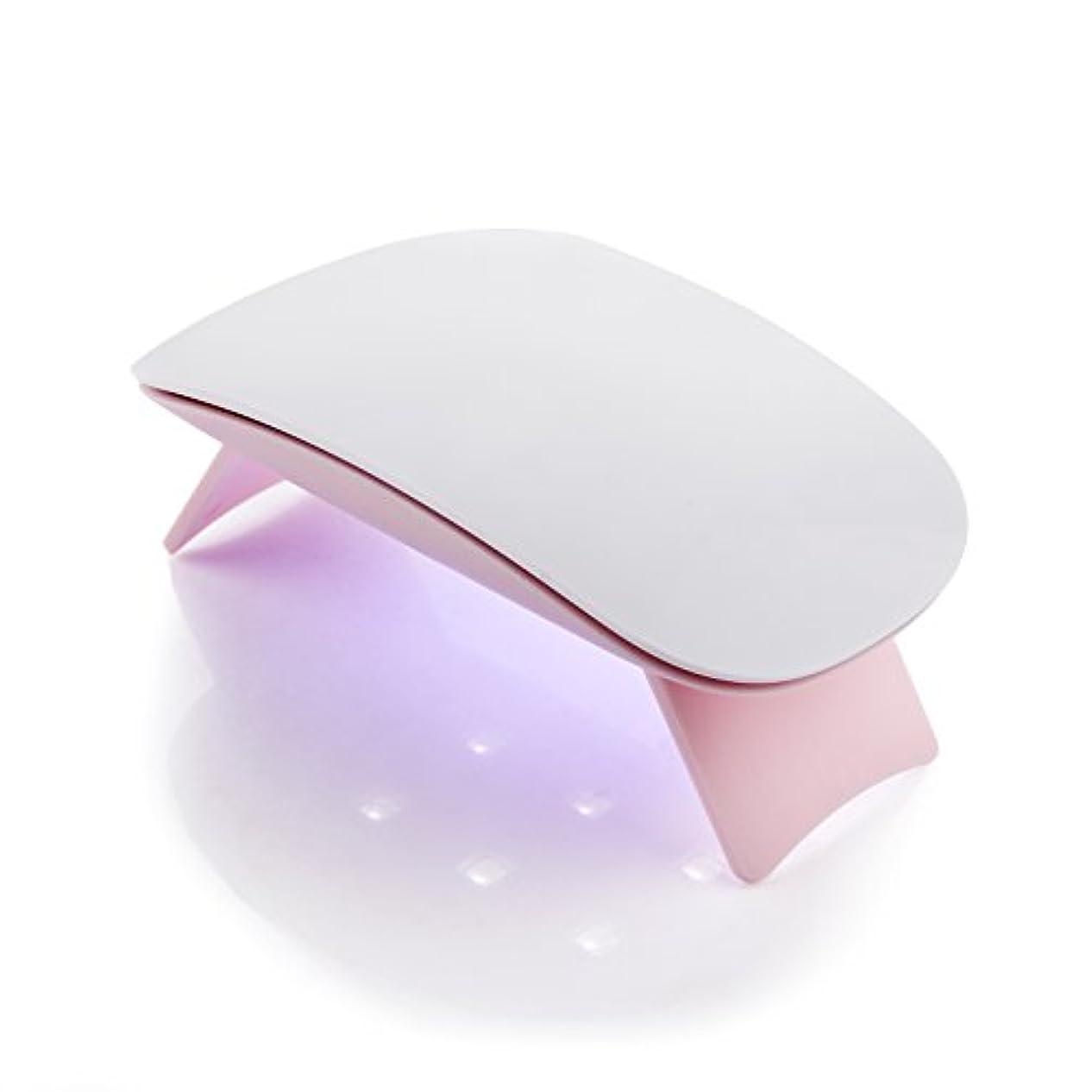 化学者臭い時Makartt 6W UV ジェルネイルLEDライト  超ミニ USB式ネイルドライヤー ネイル硬化用ライト 赤外線検知