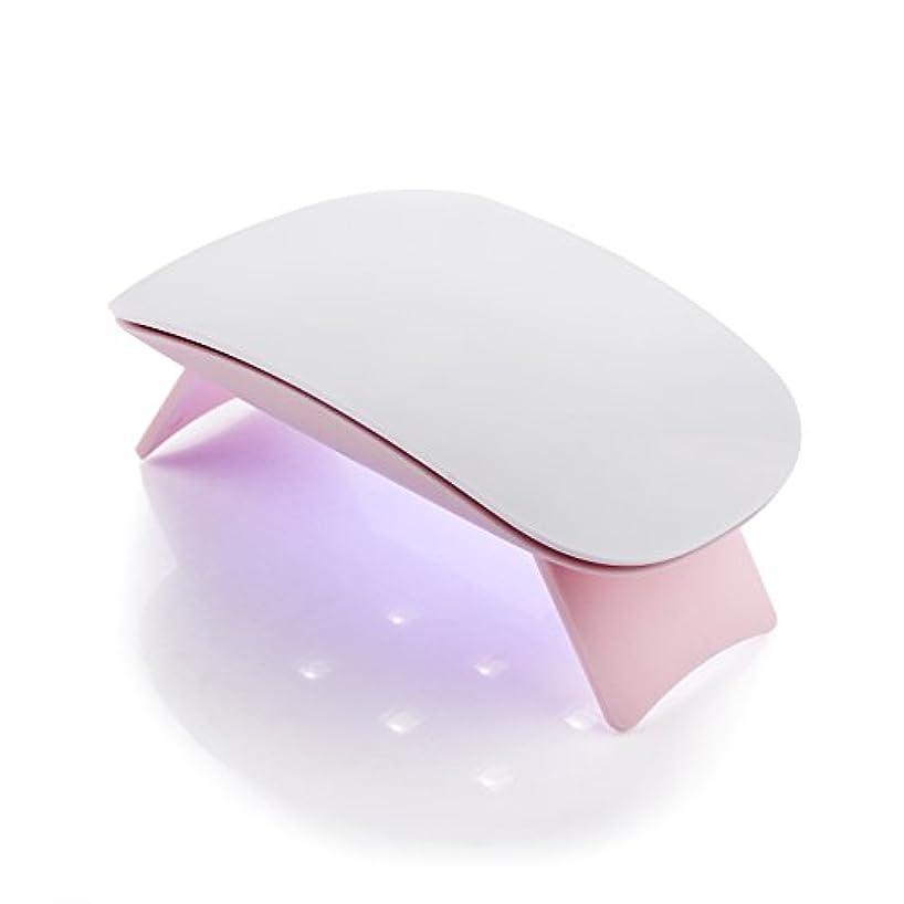 慎重動的ピンクMakartt 6W UV ジェルネイルLEDライト  超ミニ USB式ネイルドライヤー ネイル硬化用ライト 赤外線検知