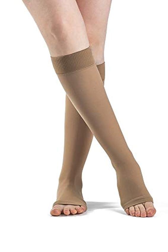 読みやすい自体砂利Sigvaris Select Comfort 863CMSO66-S 30-40 mmHg Open Toe With Grip Top Calf, Medium, Short - Crispa by Sigvaris