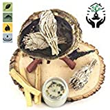 Home Cleansing and Blessing Kit - Smudging Chakra Balancing, White Sage, Palo Santo Sticks, Abalone Shell, Candle, Healing In