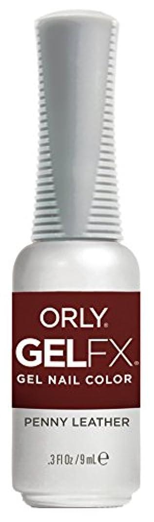 攻撃費用母性Orly Gel FX - Darlings of Defiance Collection - Penny Leather - 0.3 oz / 9 mL