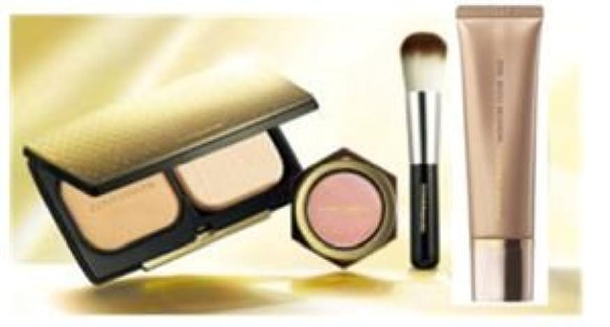 化粧処分したトリクルカバーマーク モイスチュアヴェールLX ブライトアップコレクションD レフィルのみ MN10 モイスチュアクリアベース ブライトアップチーク限定品 チークブラシ付き 7月13日発売