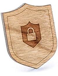 安全シールドラペルピン、木製ピンとタイタック|素朴な、ミニマルGroomsmenギフト、ウェディングアクセサリー