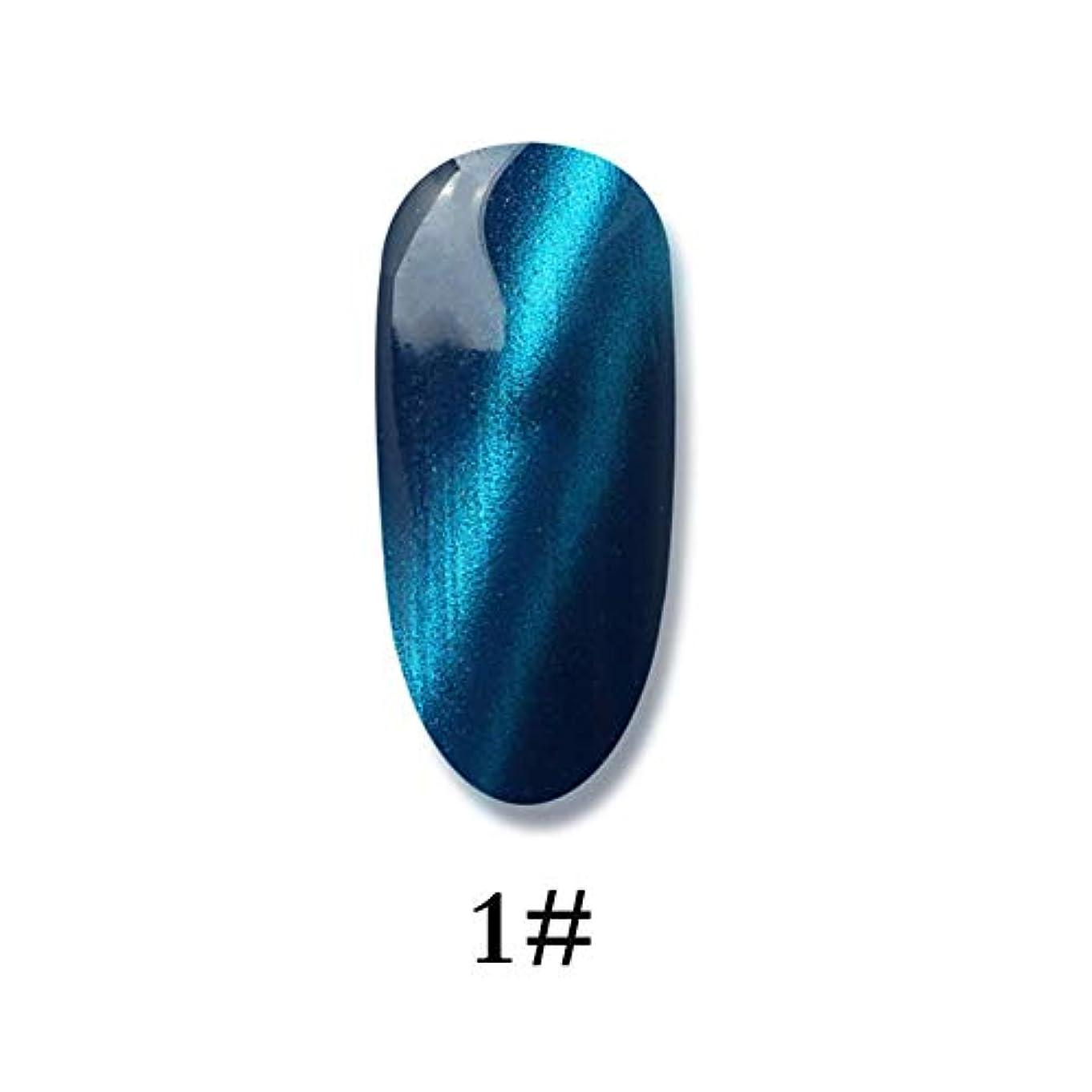 杭包囲遷移ネイルポリッシュ - ネイル光線療法用ゲル 3Dキャットアイジェルメイクアップネイルポリッシュグルー