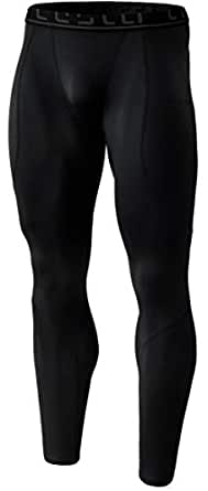 (テスラ)TESLA 冬用起毛 スポーツタイツ [UVカット・吸汗速乾] コンプレッションウェア パワーストレッチ アンダーウェア YUP43-KLB_2XL