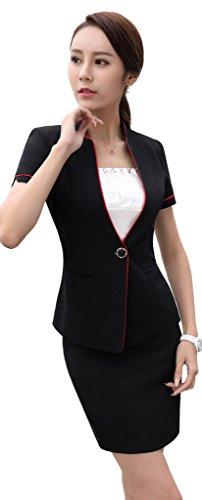 [해외]격정 女? 채용 정장 여성 정장 반팔 세트 정장 취업 활동 통근 사무 복장 OL 스커트 정장 슬림 빨/Furious female recruitment suit Women`s business suits short sleeve set formal job hunting Commuter clothes OL skirt suit slim washable