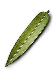 Layssa お香ホルダー 手作り陶器香炉 竹の葉の形 1ピース(グリーン)