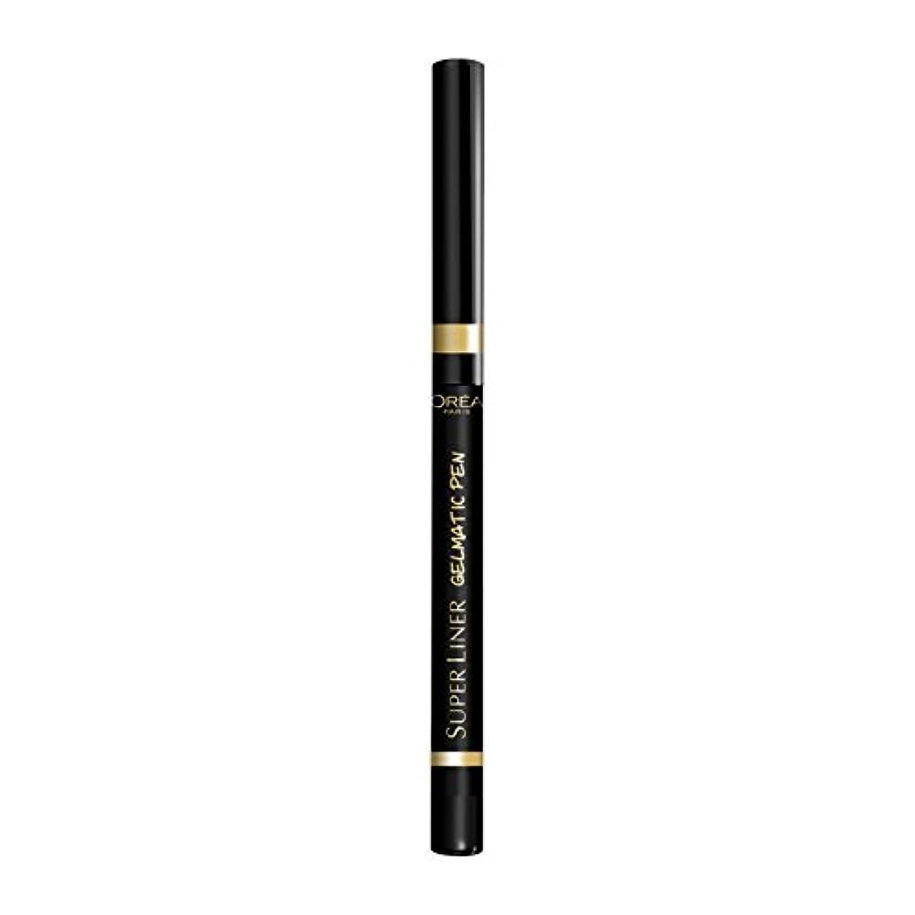 下に見せます課税ロレアル パリ アイライナー スーパーライナー ジェルマティックペン 01 ブラックアイコニック ウォータープルーフ