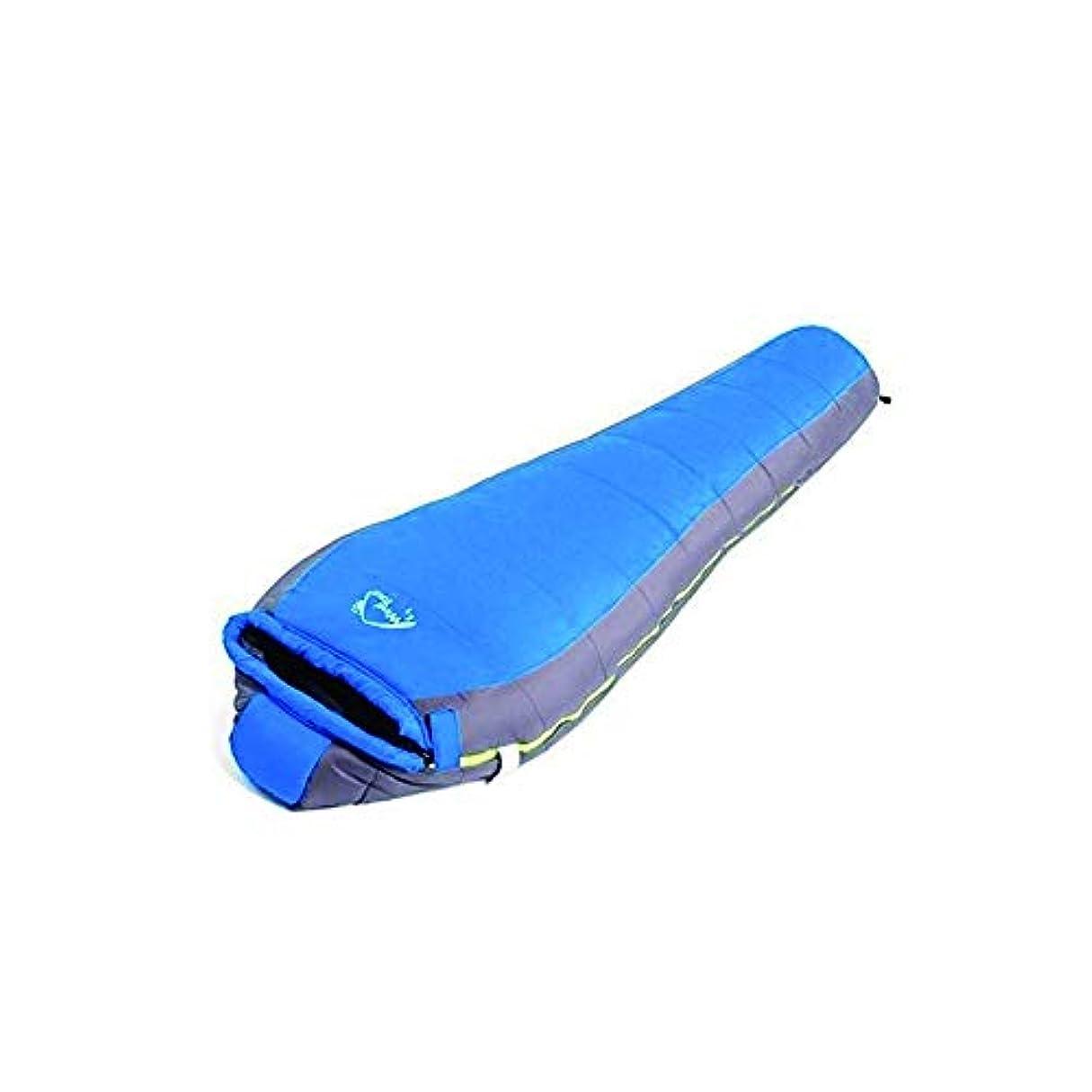 リダクター増幅するしたいGLJJQMY 縫製寝袋、厚手の冬暖かい綿の寝袋、青 寝袋