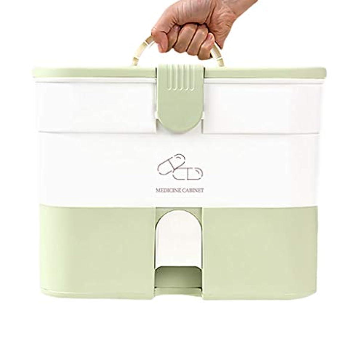 収益注文パンフレット家庭用大容量薬箱多層ドラッグ収納ボックスポータブル救急箱 HUXIUPING (Size : Capsule models)