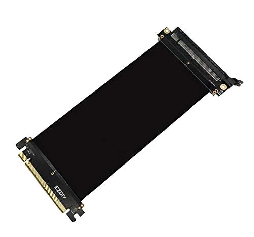 クラウド牛肉野心Easydiy 180度 PCI Express Extender Cable PC シリーズ追加用VGAライザーケーブル-20CM