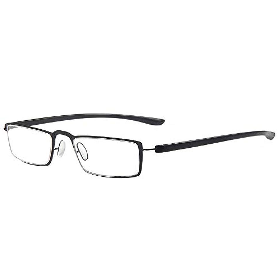 ツール釈義海賊金属製の老眼鏡、超軽量のファッションの男性と女性の読者、コンピュータゴーグル、HD樹脂レンズ、ステンレススチール製のヒンジ、視度(+2.0)