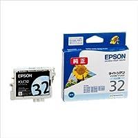 (業務用セット) エプソン EPSON インクジェットカートリッジ ICLC32 ライトシアン 1個入 【×2セット】 ds-1536884