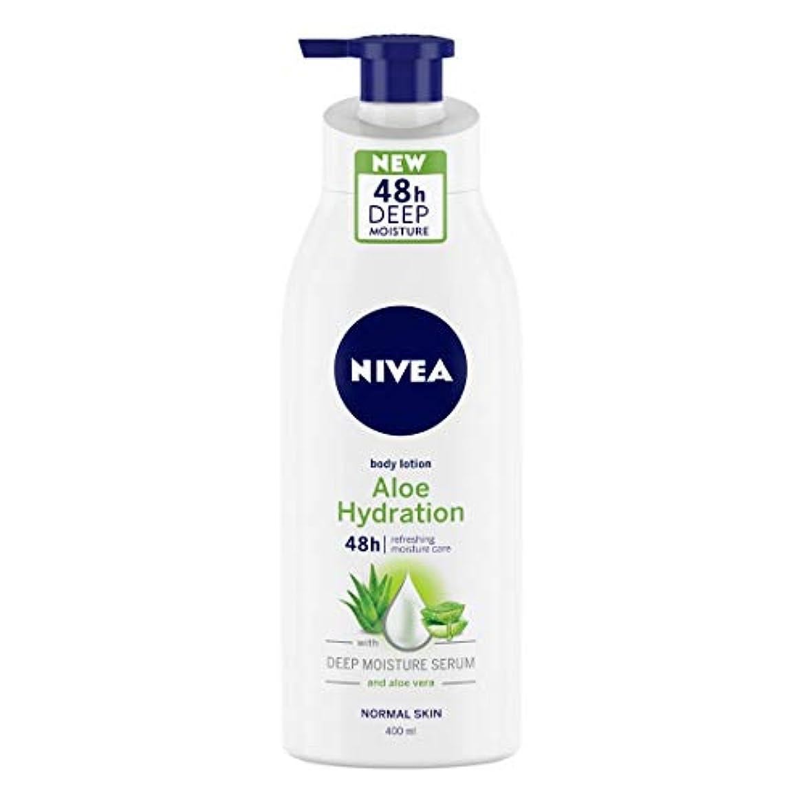 些細な褐色すべてNIVEA Aloe Hydration Body Lotion, 400ml, with deep moisture serum and aloe vera for normal skin