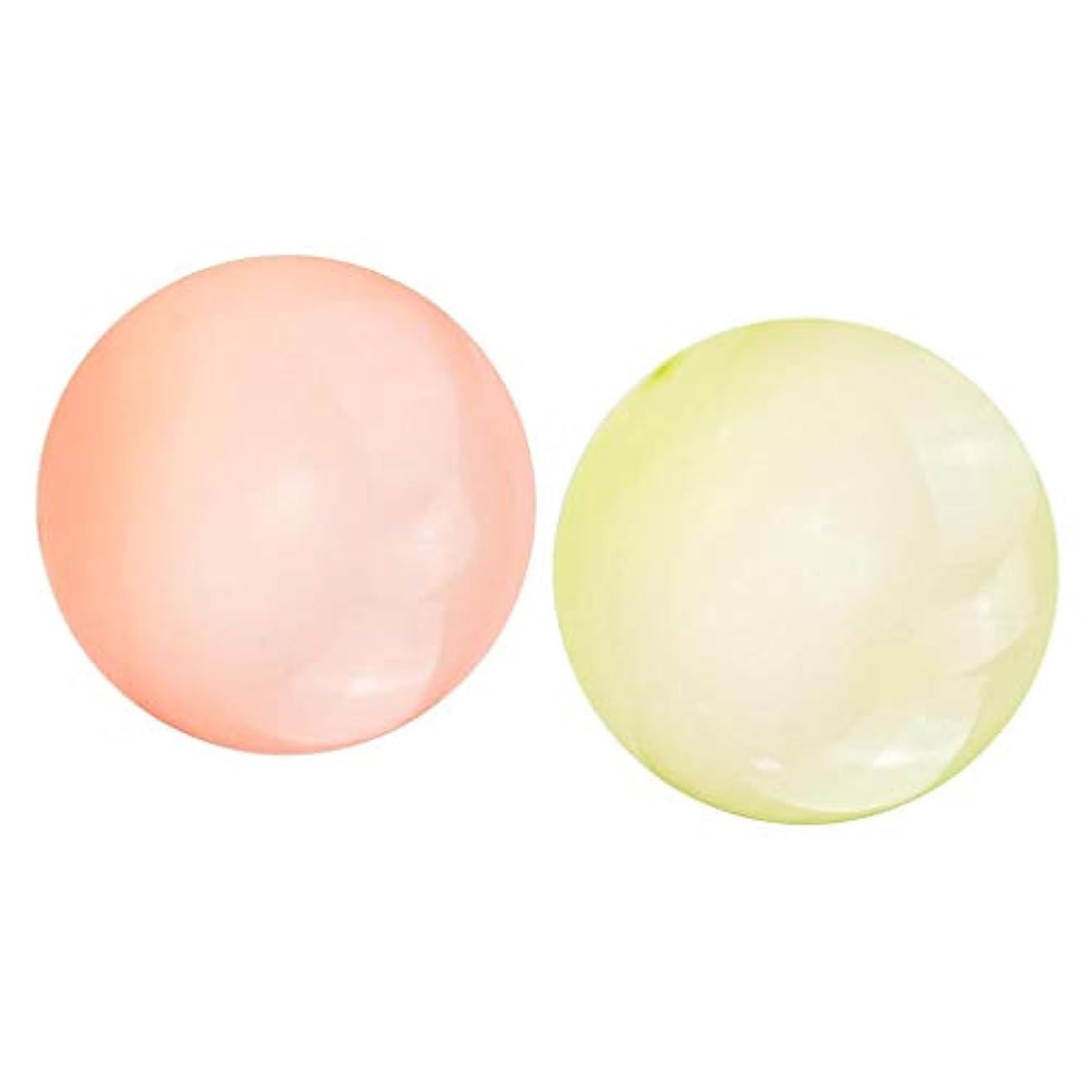 拒否尋ねる価格Perfeclan ビーチボール バブルボール 高弾性 TPR 透明 子供 大人 夏の定番 芝生 バルーン イエロー+オレンジL
