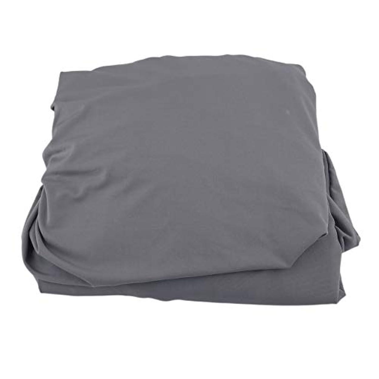 失速判定宣伝Saikogoods 弾性ポリエステルソファカバーピュアカラーストレッチ本のカバー柔軟な椅子Dustcoat耐久性のあるソファーカバー家具の布 グレー