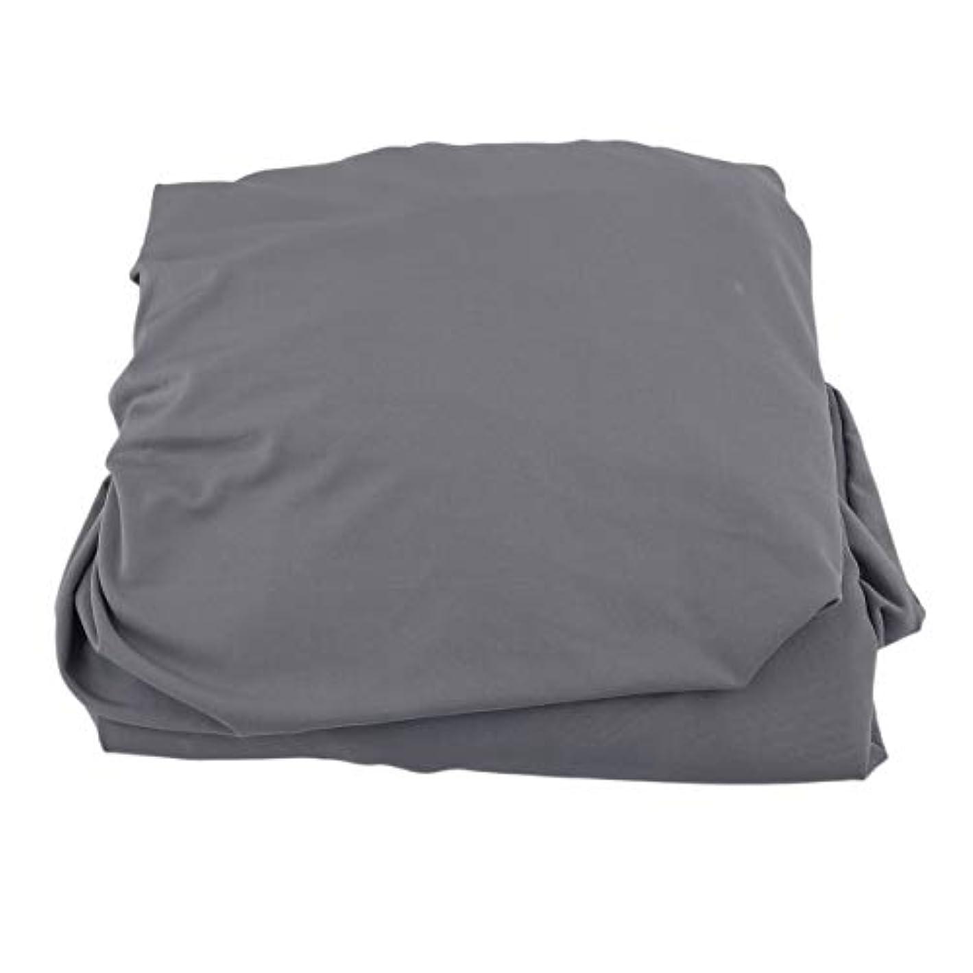 封筒商品コカインSaikogoods 弾性ポリエステルソファカバーピュアカラーストレッチ本のカバー柔軟な椅子Dustcoat耐久性のあるソファーカバー家具の布 グレー