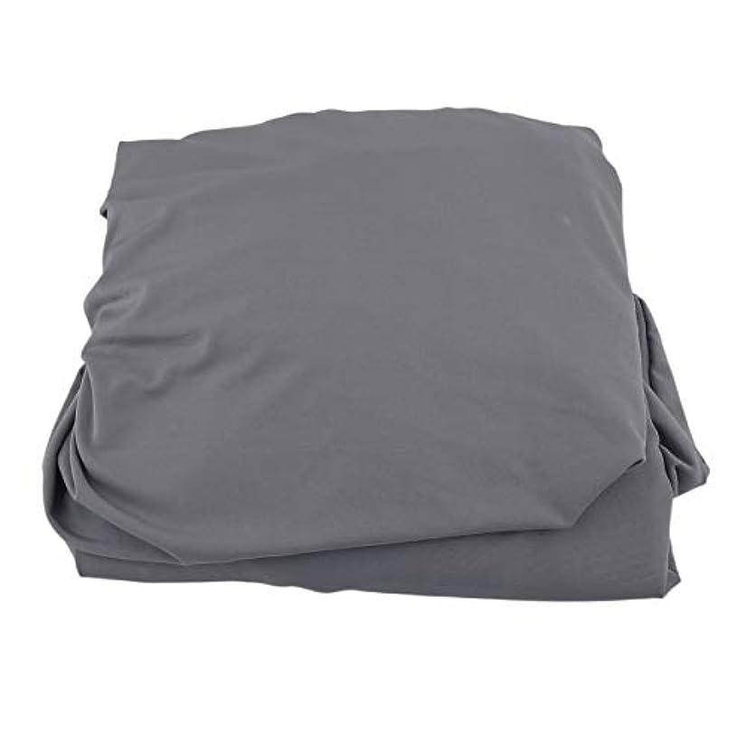 戸惑う不適当グリーンランドSaikogoods 弾性ポリエステルソファカバーピュアカラーストレッチ本のカバー柔軟な椅子Dustcoat耐久性のあるソファーカバー家具の布 グレー
