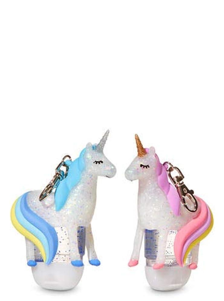 練習米ドル箱【Bath&Body Works/バス&ボディワークス】 抗菌ハンドジェルホルダー 2個セット ユニコーン Pocketbac Holders Be My BFF Unicorns [並行輸入品]