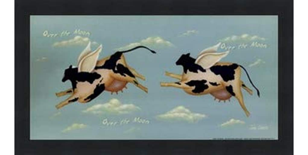 インシデントマザーランド形Over the Moon by John Sliney – 12 x 6インチ – アートプリントポスター LE_614119-F101-12x6