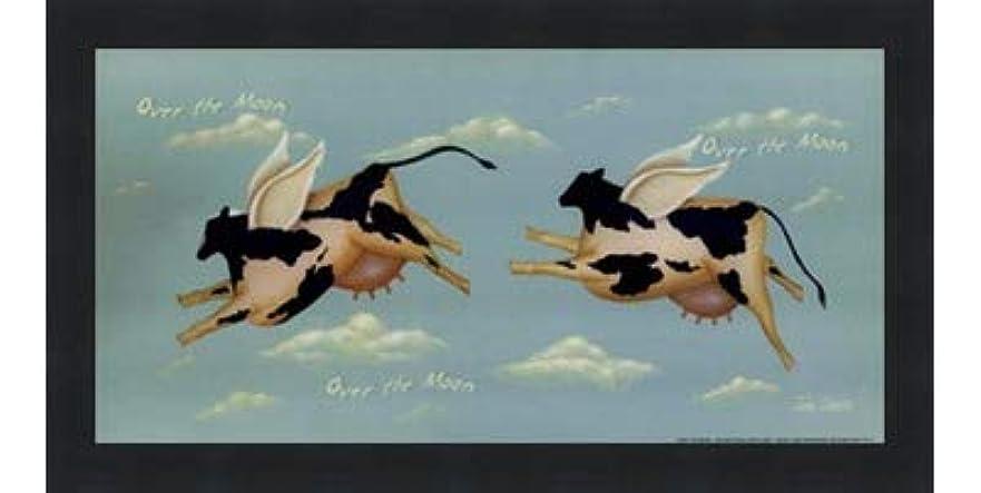 乞食ロマンス高架Over the Moon by John Sliney – 12 x 6インチ – アートプリントポスター LE_614119-F101-12x6