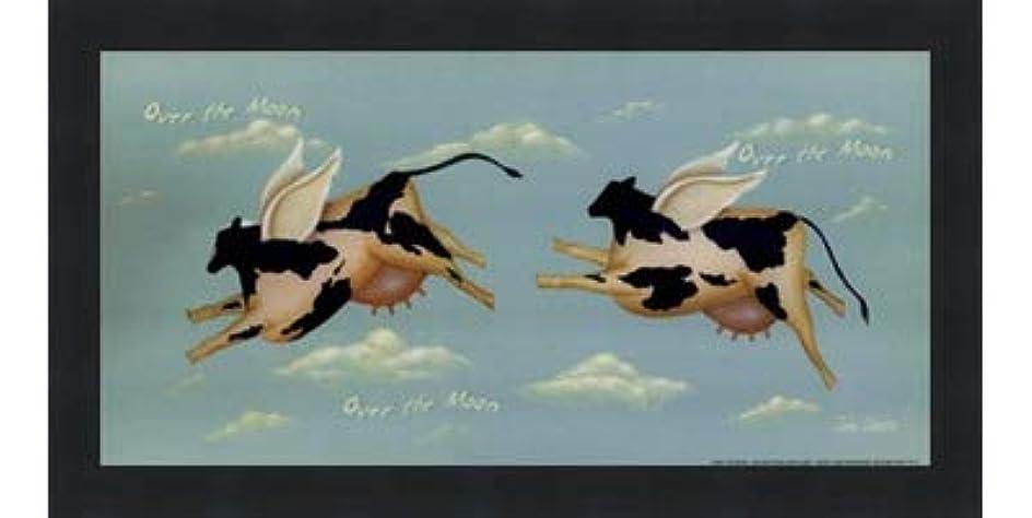 行動手好奇心盛Over the Moon by John Sliney – 12 x 6インチ – アートプリントポスター LE_614119-F101-12x6