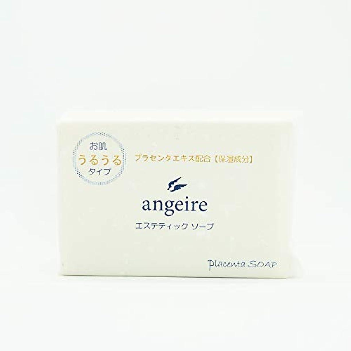 直面する小さいアイザックangeire エステティックソープ お肌うるうるタイプ 天然アロマの香り