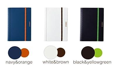 キングジム A4二つ折りクリアーファイル コンパック 5ポケット ネイビー/黒/白 5894S-NY/K/W 3冊組み