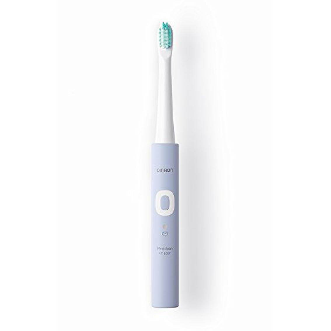海峡ひも残り物援助するオムロン 電動歯ブラシ メディクリーン 音波式 ラベンダー HT-B307-V