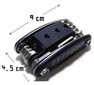 自転車 マウンテンバイク用 携帯 多機能 工具 ツール セット タイヤ パンク修理 便利なポーチ付き!
