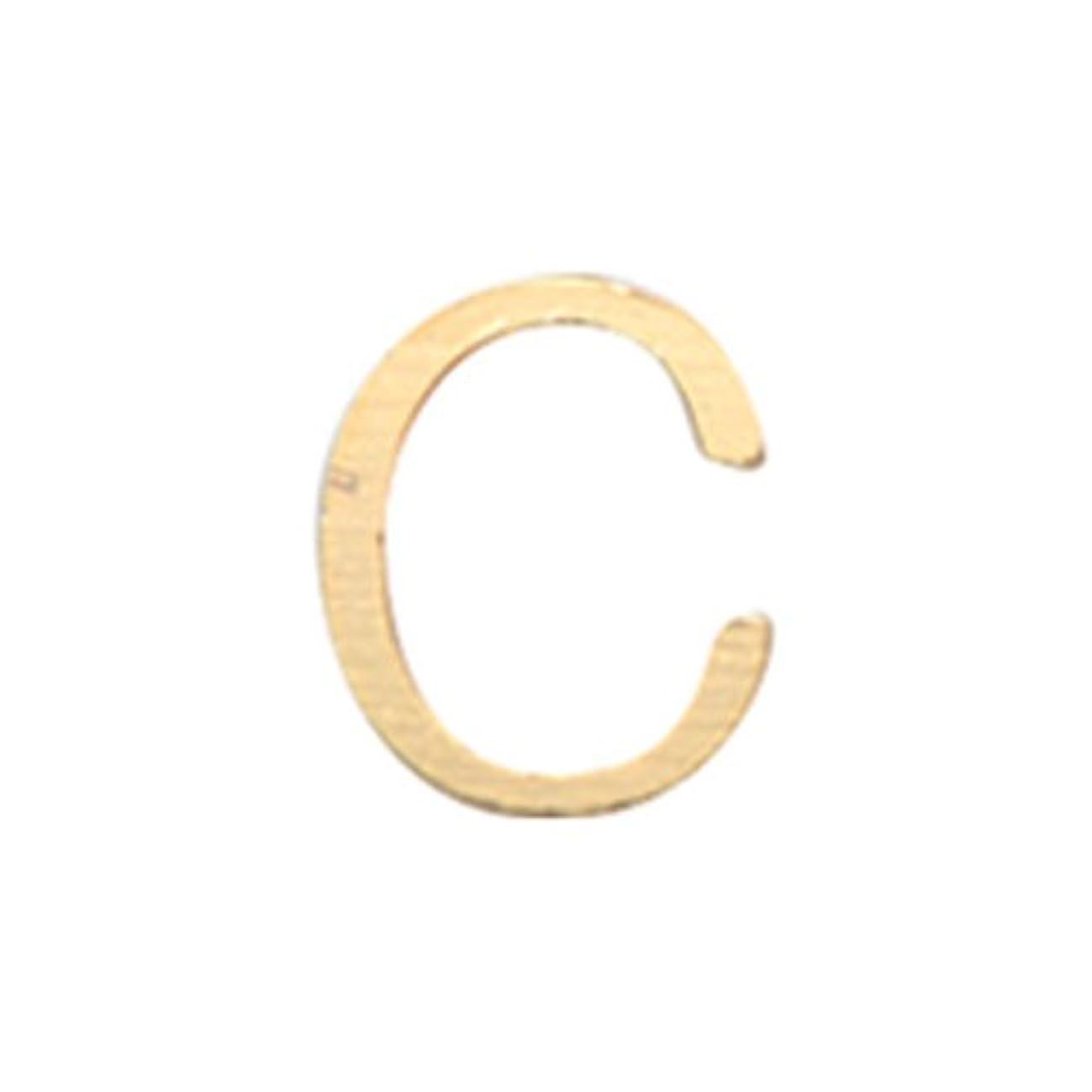 リトルプリティー ネイルアートパーツ アルファベット C ゴールド 10個