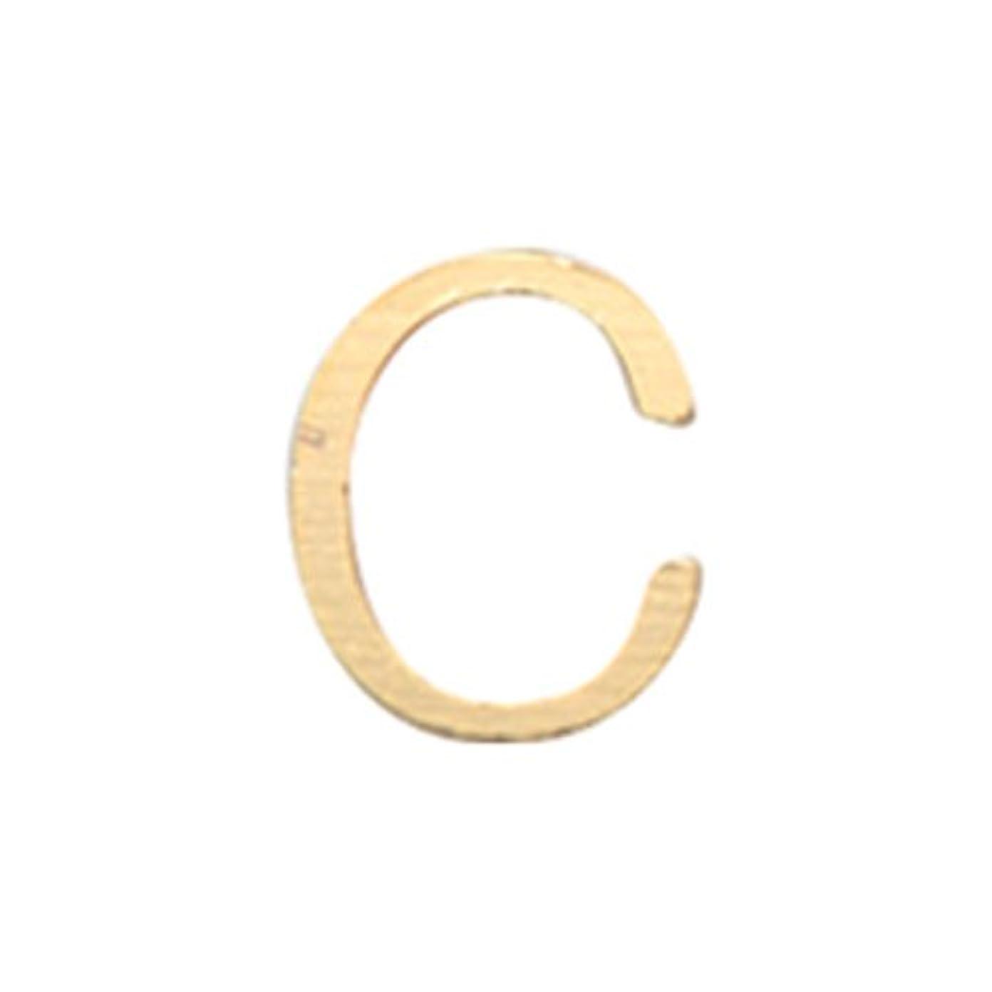 モトリーカート巨大リトルプリティー ネイルアートパーツ アルファベット C ゴールド 10個