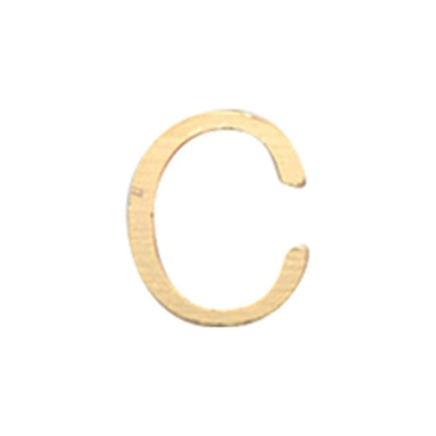 前文寛容な軽リトルプリティー ネイルアートパーツ アルファベット C ゴールド 10個