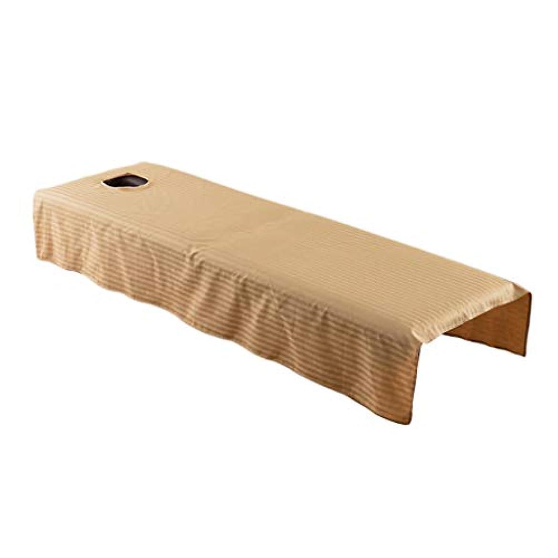控えるスクリーチ深いdailymall マッサージベッド カバー 有孔 マッサージテーブル スパベッドカバー 全5カラー - キャメル