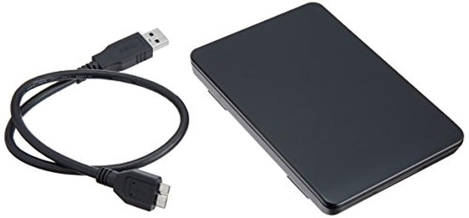 内陸闘争消防士玄人志向 SSD/HDDケース(ブラック) 2.5型 USB3.0接続 ACアダプター不要/ネジ止め不要/3ステップの簡単組立 GW2.5TL-U3/BK