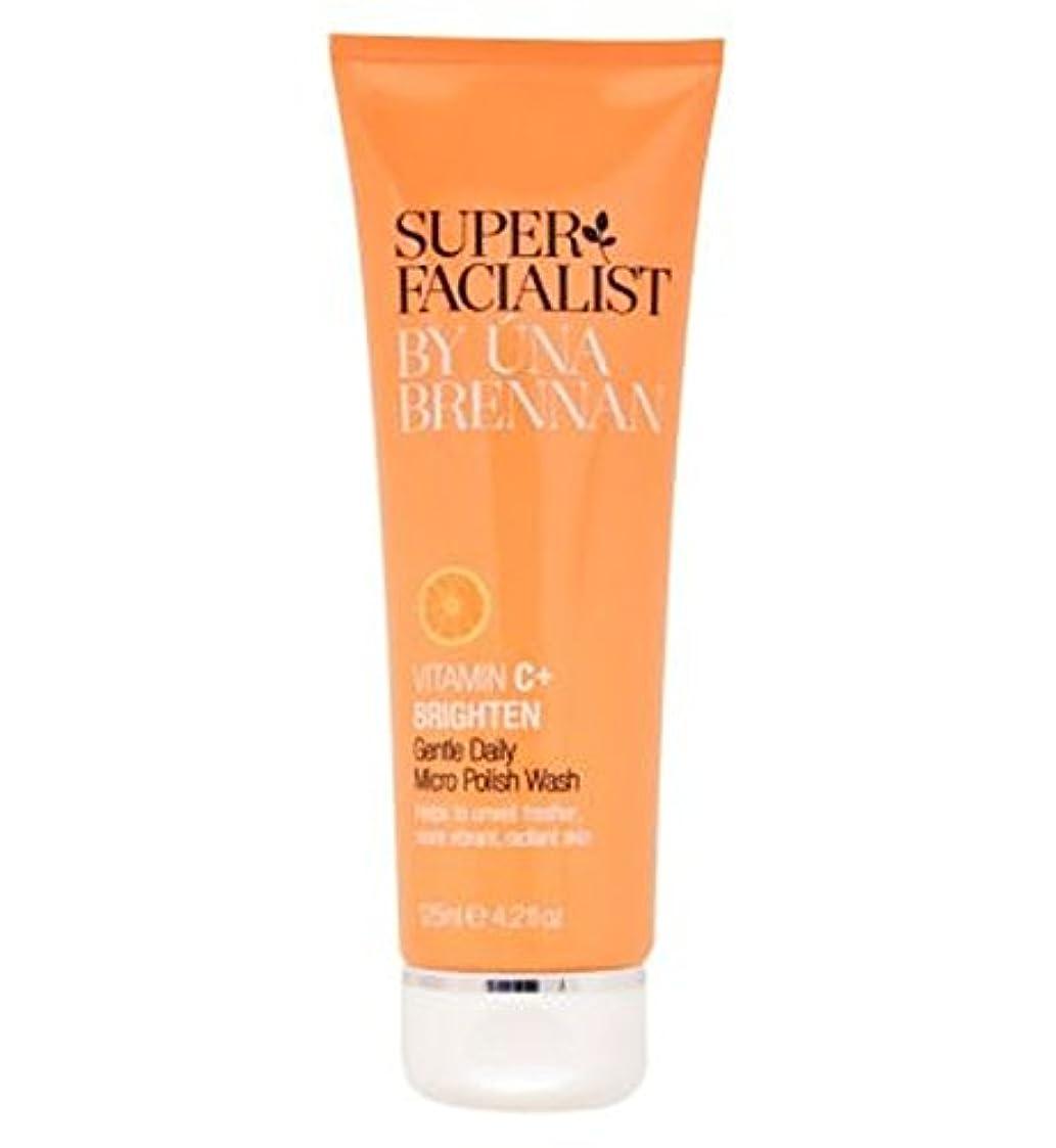 Superfacialist Vitamin C+ Gentle Daily Micro Polish Wash 125ml - SuperfacialistビタミンC +穏やかな毎日マイクロポリッシュ洗浄125ミリリットル...