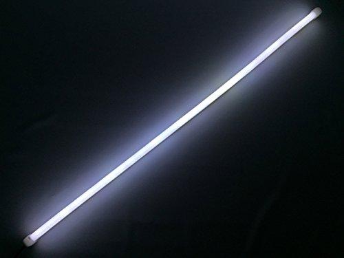 TamTom 湾曲 LED シリコン チューブ ライト ライン発光 単色 12V 45㎝ 2本セット (ホワイト)