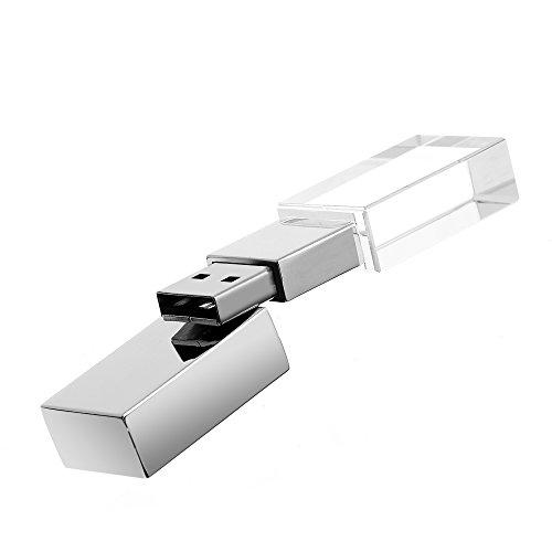 ARCHEER USBメモリ・ LED USBフラッシュメモリ アグレコ透明・LEDライト(きらきら)・超小型---8GB