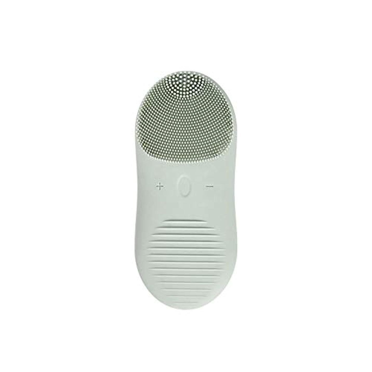 パイロット中古覗くZXF 新しい電気技師シリコーンクレンジングブラシ防水超音波振動クレンジング楽器USB充電マッサージ器具美容器具 滑らかである (色 : Green)
