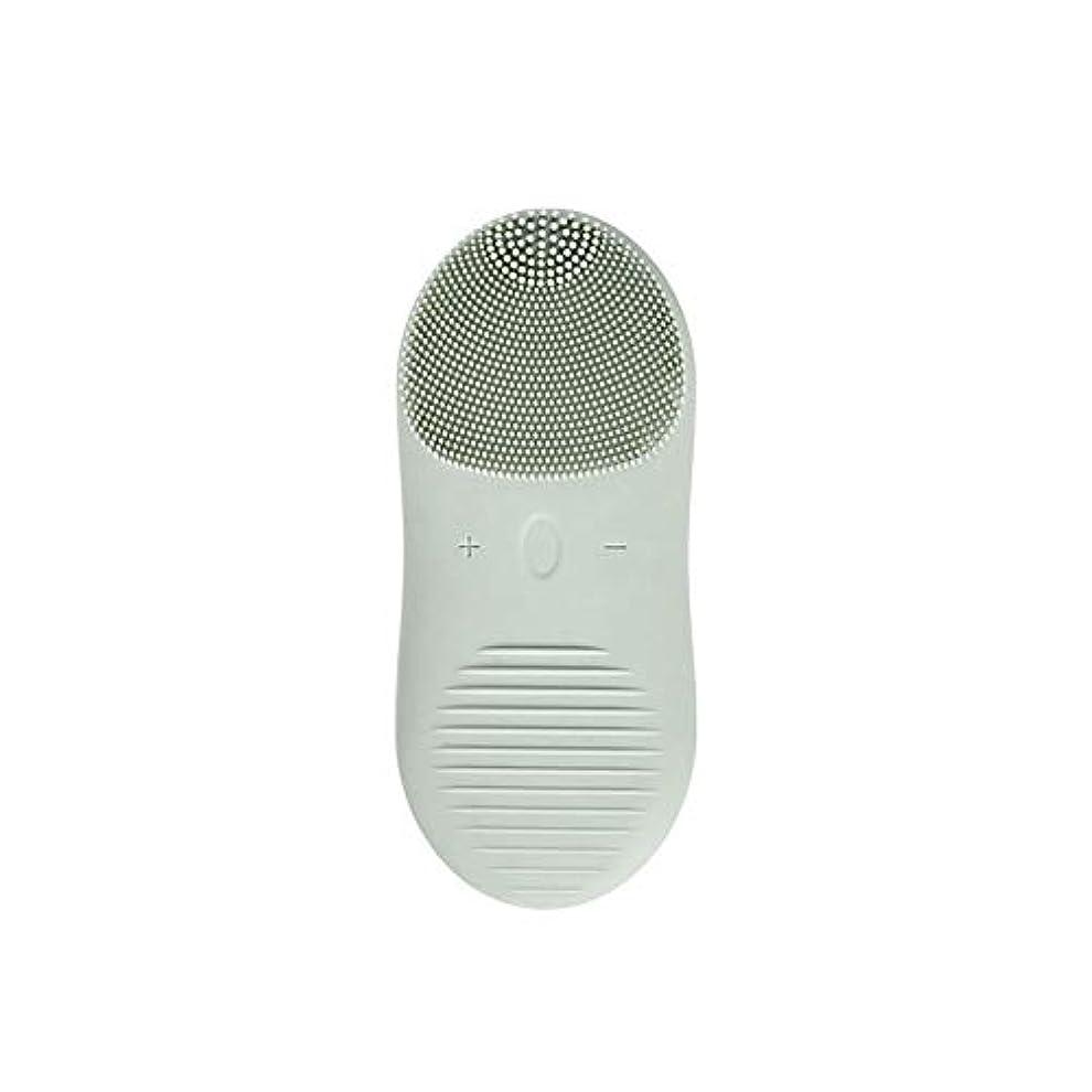 販売計画減らす好戦的なZXF 新しい電気技師シリコーンクレンジングブラシ防水超音波振動クレンジング楽器USB充電マッサージ器具美容器具 滑らかである (色 : Green)