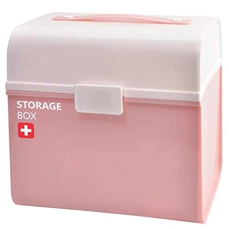 想定観光病NYDZDM 赤ちゃん応急処置キット医療胸キャリングハンドル、小さなハンドルプラスチック収納オーガナイザーボックスコンテナフタ付き (Color : Pink)