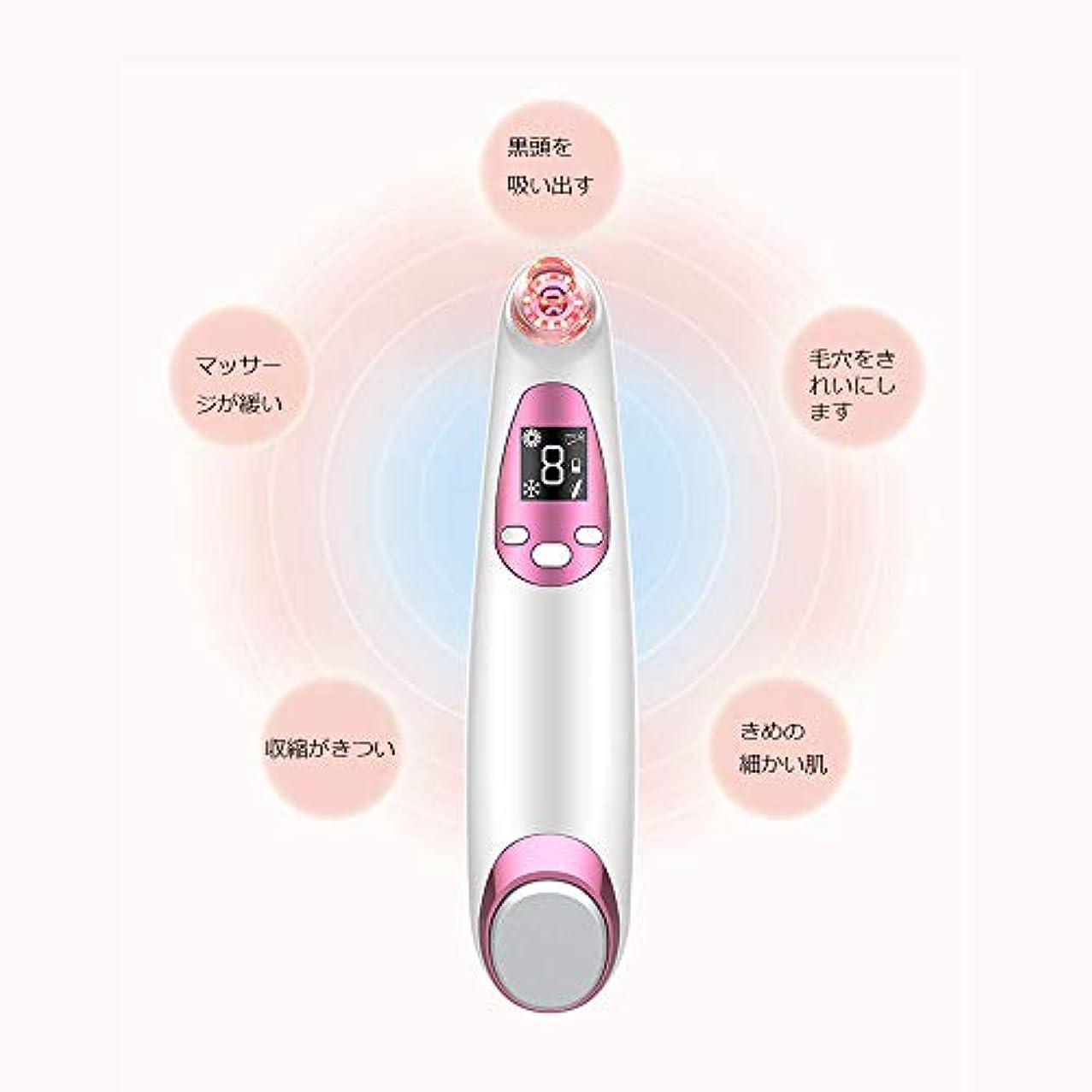 晩ごはん根拠無意味にきびの除去剤の気孔の掃除機、LED表示が付いている顔の気孔の洗剤、熱く/冷たい振動心配のパネル、再充電可能および4つの吸引の頭部