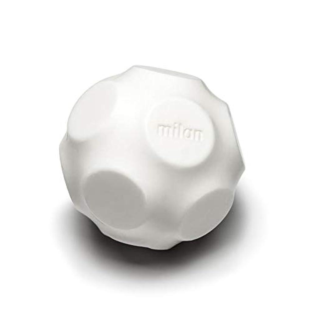 ハイキングに行く暗黙収まるMaison Milan SIMONA ダイヤモンド粉 ホワイト 石鹸