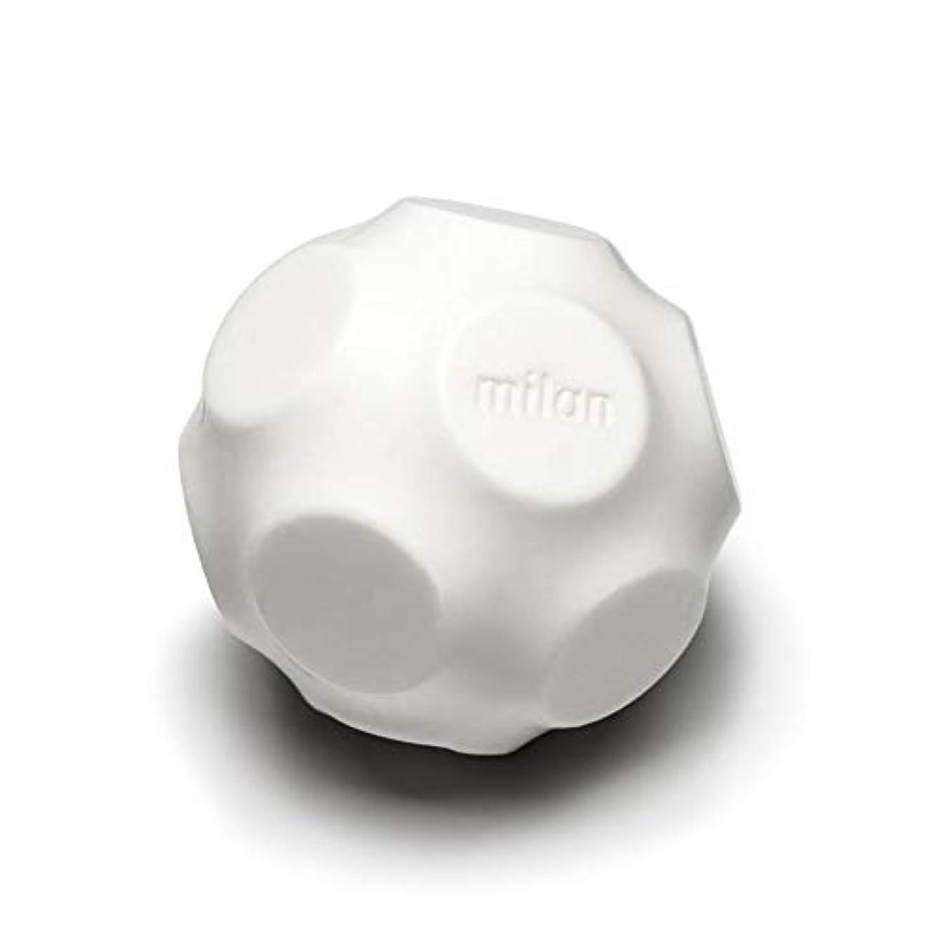 あご広々フェードアウトMaison Milan SIMONA ダイヤモンド粉 ホワイト 石鹸
