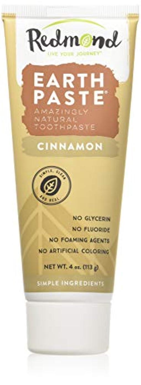 地平線ストリーム麻酔薬海外直送品Redmond RealSalt Natural Organic Flouride Free Toothpaste Cinnamon, Cinnamon 4 OZ