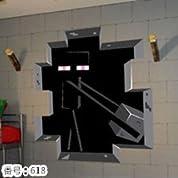 ウォールステッカー Minecraft マインクラフト 壁紙シール  49.8cm*58.2cm