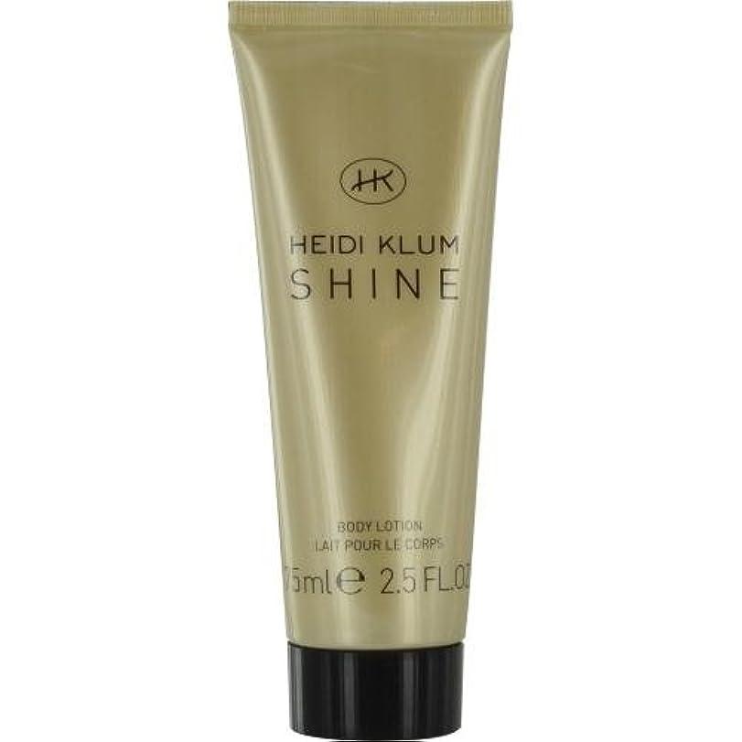 トランペット注意アセHEIDI KLUM SHINE by Heidi Klum BODY LOTION 2.5 OZ for WOMEN by Heidi Klum